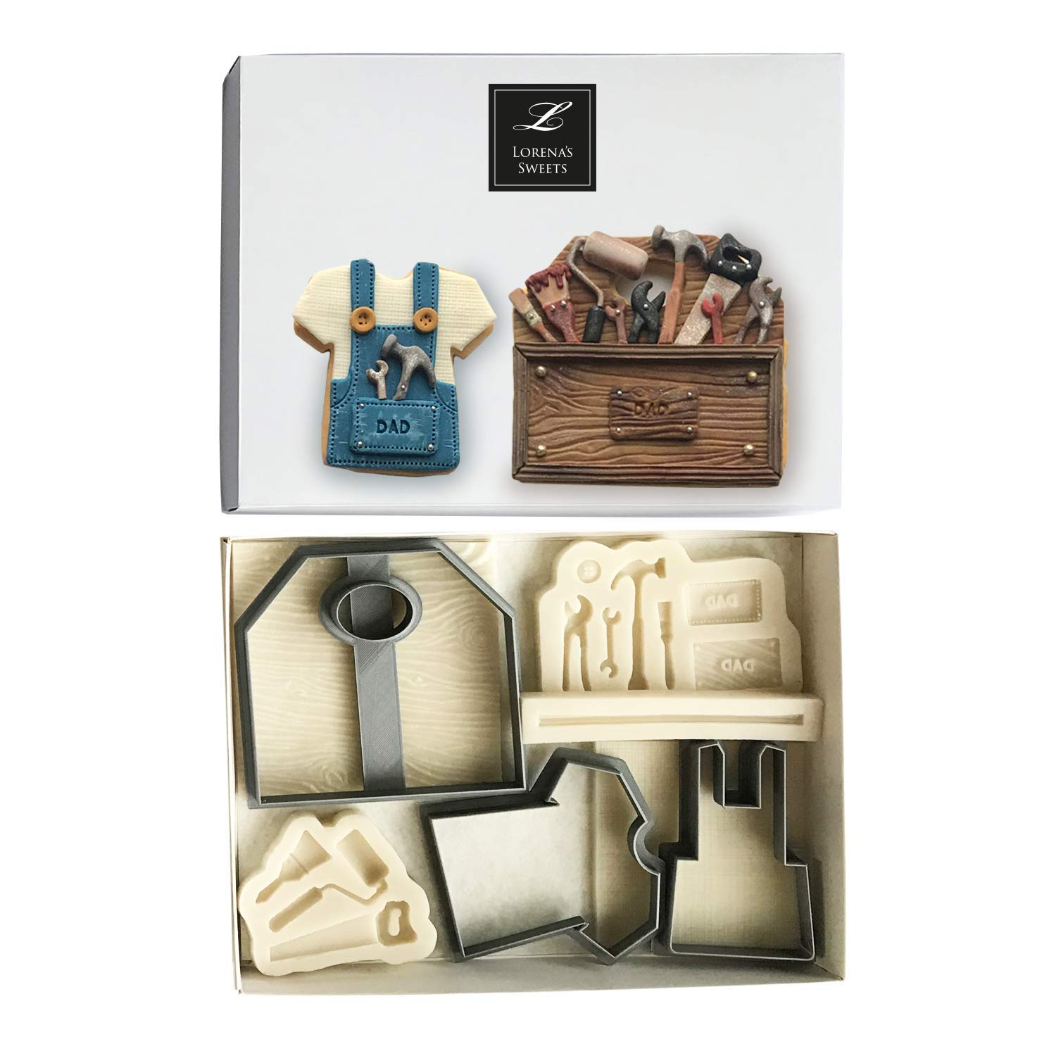 LORENA'S SWEETS Fondant cookie cutter kit Tool box and overall by Lorena´s Sweets (Image #5)