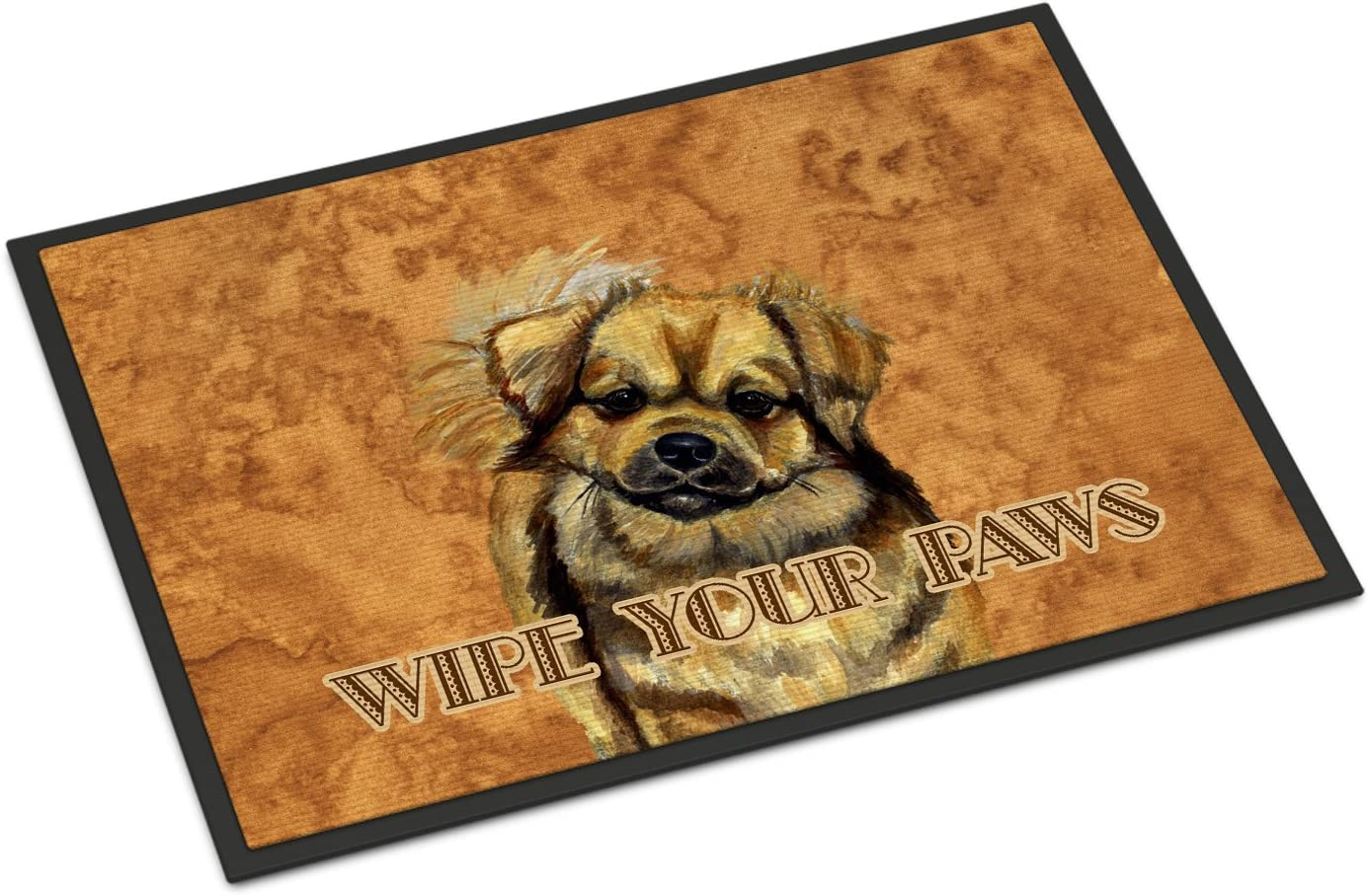 Caroline s Treasures LH9458MAT Tibetan Spaniel Wipe Your Paws Indoor or Outdoor Mat 18×27, 18H X 27W, Multicolor