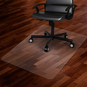 "Azadx Office Chair Mat for Hard Floors 48 X 59, Clear PVC Hardwood Floor Mat, Durable Plastic Floor Protector for Home and Office use (48"" X 59"" Rectangle)"