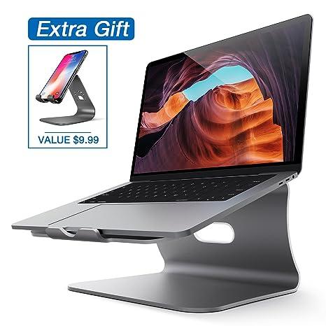Soporte para Laptop, Soporte Refrigerante Bestand para Macbook & Soporte para Móvil iPhone con Base