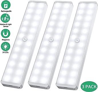NEW LED Motion Sensor Lights PIR Wireless Night Light Home Cabinet Stair Lamp UK