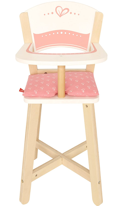 Amazon.com: Award Winning Hape Babydoll Highchair Toddler Wooden Doll Play  Furniture: Toys U0026 Games