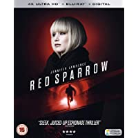 Red Sparrow (4K UHD + Blu-ray + Digital HD) (2-Disc Box Set) (Slipcase Packaging + Region Free + Fully Packaged Import)