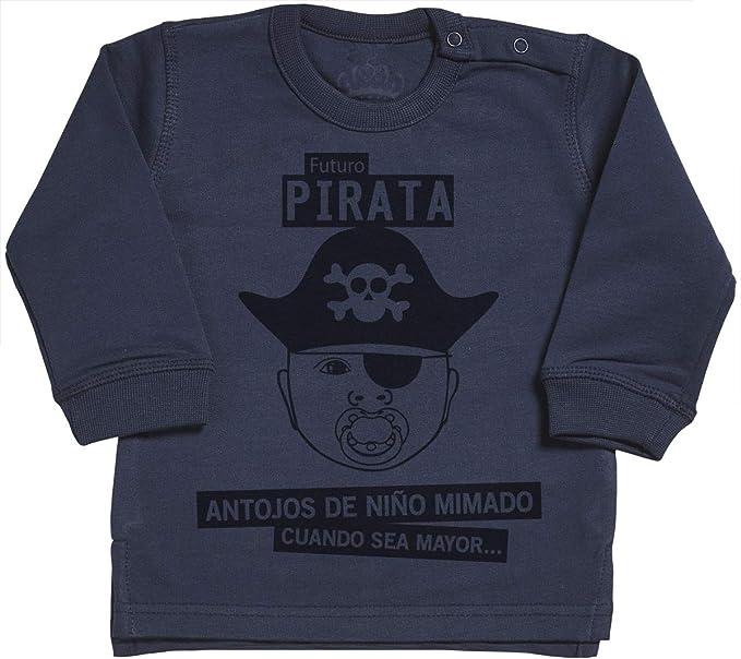 Spoilt Rotten SR - Futuro Pirata suéter para bebé - suéter para bebé niño - suéter para bebé niña - 0-6 Meses Azul-Marino: Amazon.es: Ropa y accesorios