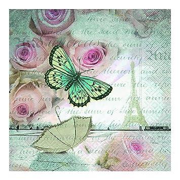 Paper Design Gmbh Tabletop Romance In Paris Servietten 33 X 33 Cm 20 Stück