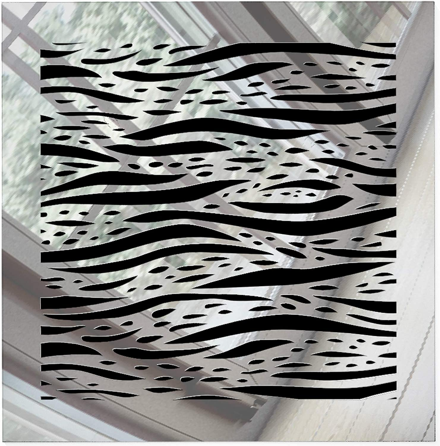"""SABA Register Cover Air Vent - Acrylic Fiberglass Grille 8"""" x 8"""" Duct Opening (10"""" x""""10 Overall) Mirror Finish Decorative Cover for Walls & Ceilings, not for Floor use, Waves"""