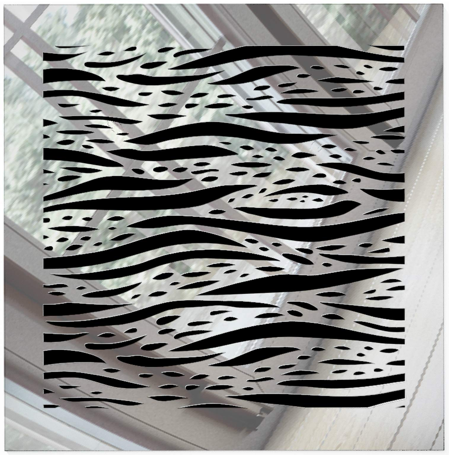 SABA Register Cover Air Vent - Acrylic Fiberglass Grille 14'' x 14'' Duct Opening (17'' x 17'' Overall) Mirror Finish Decorative Cover for Walls and Ceilings, not for Floor use, Waves