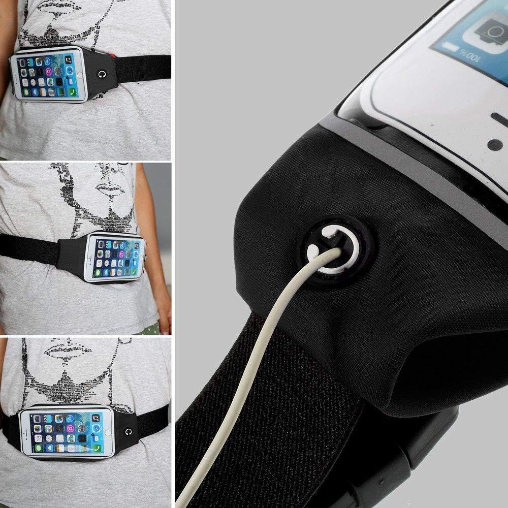 Negra Funda Reflectante con Pantalla T/áctil Impermeable Ri/ñonera Deportiva para Correr y Andar Senderismo Running Compatible con Xiaomi Redmi Note 4 DFV mobile