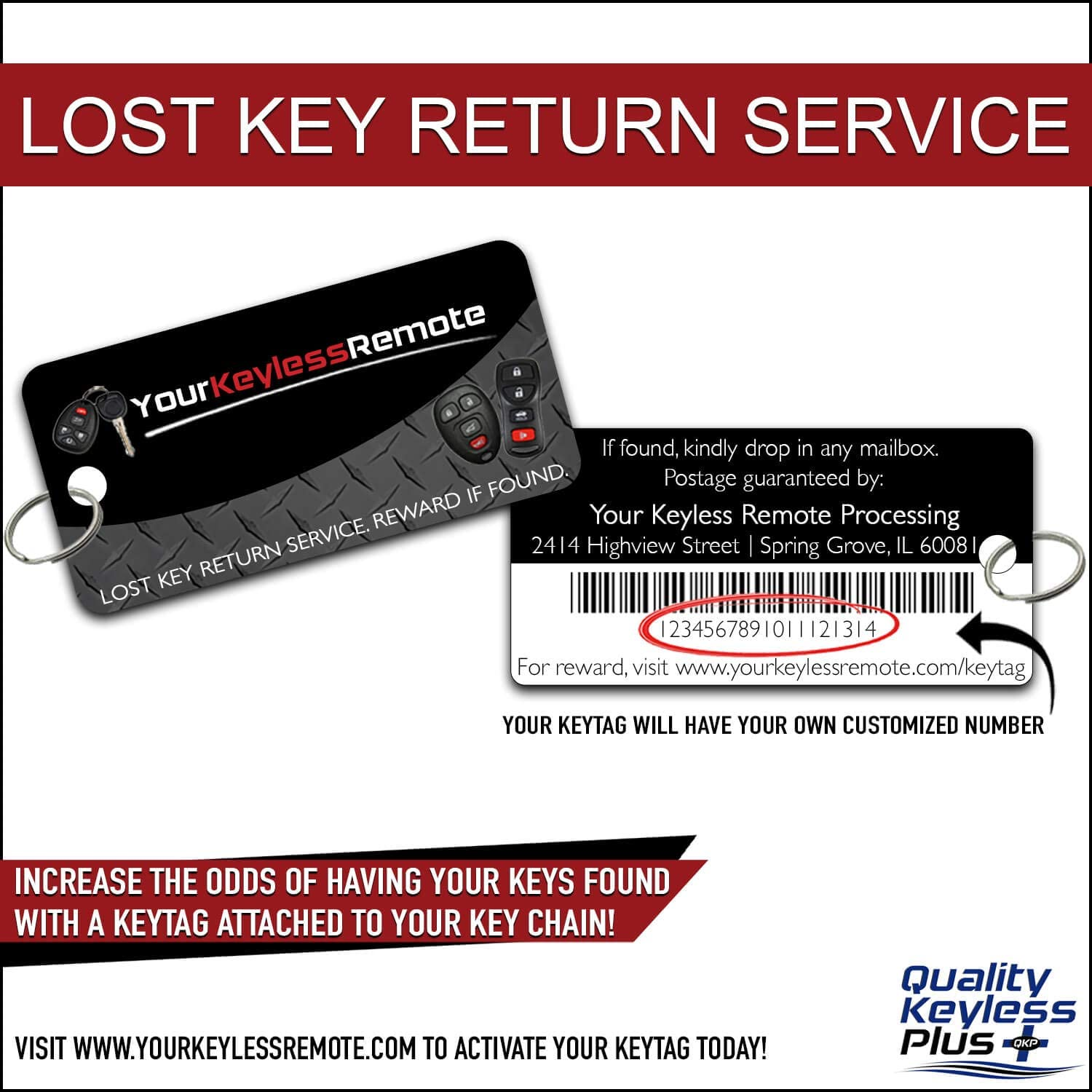 89904-08010 with Keytag Return QualityKeylessPlus Aftermarket Replacement Toyota Prox Smart Key Remote for 2011-2018 Sienna Keyless Entry FCC ID:HYQ14ADR Part No