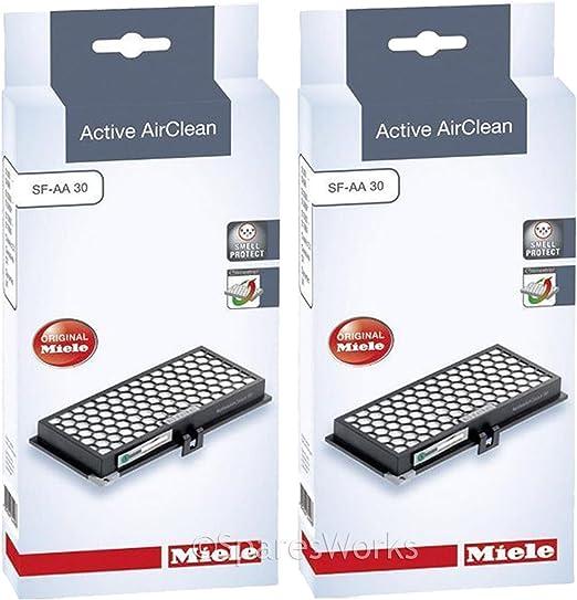 Miele auténtica SF-AA30 activo Air Clean filtros de aspiradora (Pack de 2): Amazon.es: Hogar