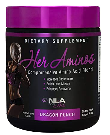 NLA for Her – Her Aminos – Comprehensive Amino Acid Blend – Supports Increased Endurance, Building Lean Muscle, Enhanced Recovery – Dragon Punch – 246 Grams