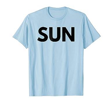 b918ac50c Amazon.com: Sunday T-Shirt Days of the Week T-Shirts, Costume, Etc ...