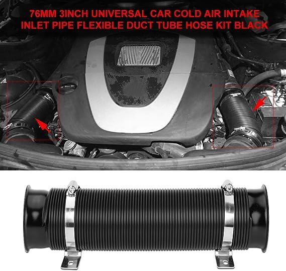 Lufteinlassschlauch 76 Mm 3 Zoll Universal Turbo Kälte Flexibel Für Motorzufuhr Für Auto Auto