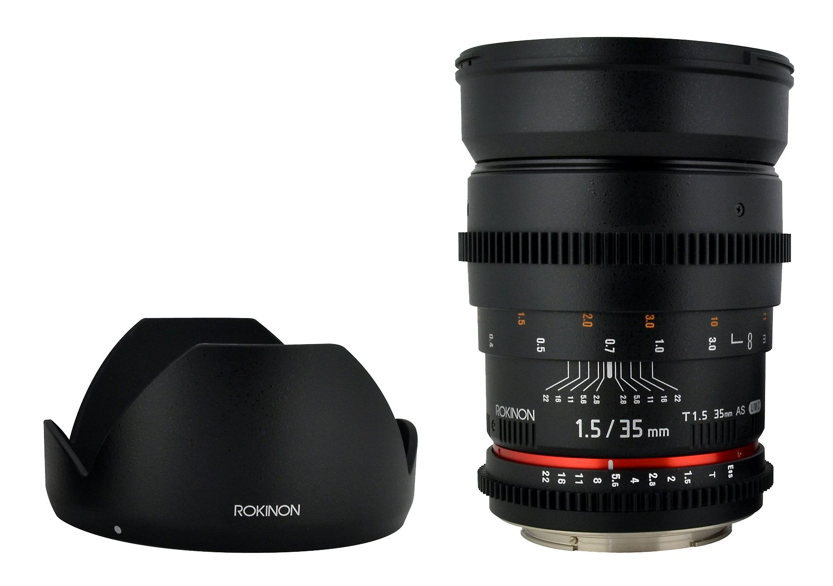 Rokinon Cine CV35-C 35mm T1.5 Aspherical Wide Angle Cine Lens with De-Clicked Aperture for Canon EOS DSLR 35-35mm, Fixed-Non-Zoom Lens by Rokinon (Image #2)