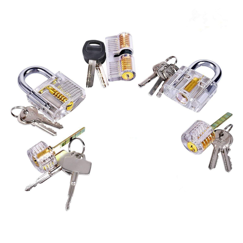 Hancel 5pcs of Locks for Locksmith Practice