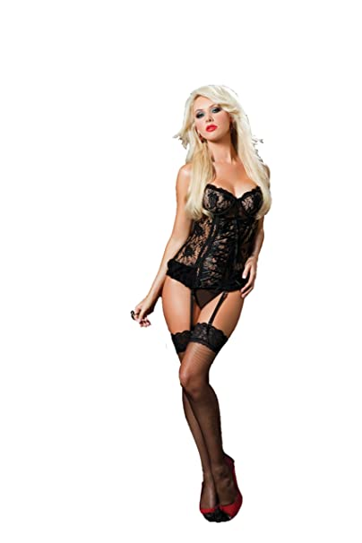 bcf62e7655851 SEVEN  TIL MIDNIGHT Women s Paisley Please Bustier and Thong  Amazon ...