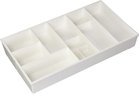 Amazon Com Dial Industries Junk Expand A Drawer 9 5 X 16 X 2 25 White Flatware Organizers