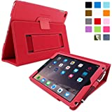 iPad Air 2 Hülle (Rot), Snugg - Smart Case mit lebenslanger Garantie + Sleep / Wake Funktion