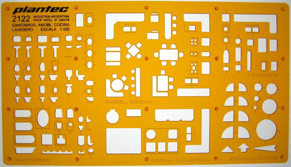Amazon Metric 1100 Scale Architectural Sanitary Plumbing Fixtures Architect Drafting Template Stencil