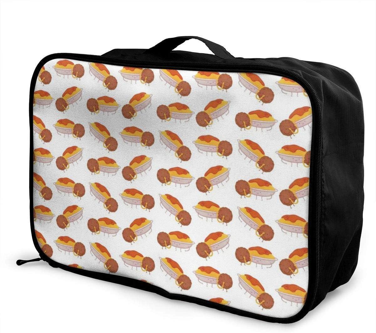 Spaghetti Dinner I Love Spaghetti Italian Pasta Travel Duffel Bag Waterproof Fashion Lightweight Large Capacity Portable Luggage Bag