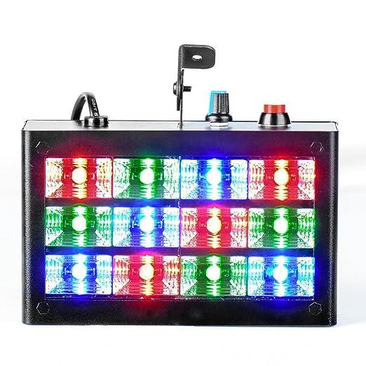 Disco stroboskope LED PAR 12LEDs 15 W luz discoteca lámpara ...
