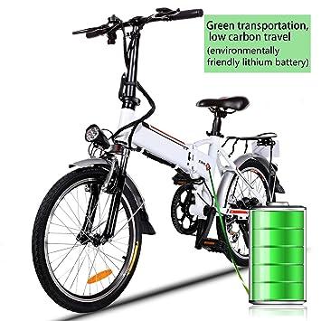 Amazon.com: Bicicleta de Montaña Eléctrica Plegable Ciclismo ...