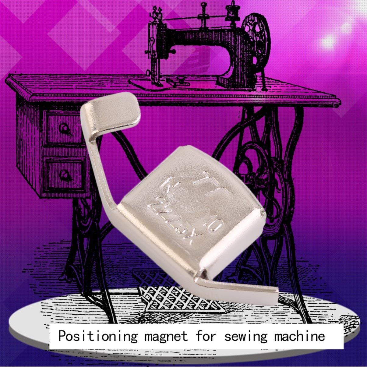 Gu/ía de costura magn/ética de metal universal Pies de prensa para m/áquinas de coser Manualidades de bricolaje Piezas de pie Herramienta para el hogar