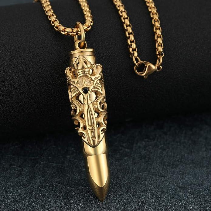 Richsteel Herrenkette Edelstahl mit Handgranate Anh/änger Kette f/ür Herren in einem Geschenkebox f/ür Herren und m/ännder
