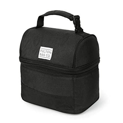 0eda62f9de Amazon.com  Fulton Bag Co. Bucket Lunch Food Bag (Black)  Kitchen ...