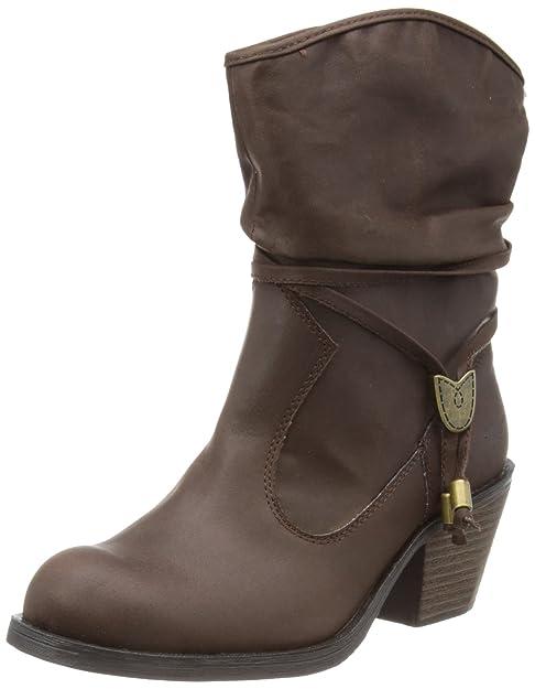 Rocket Dog Reed - Botas de tacón para mujer, color marrón (rider fabric brown), talla 36: Amazon.es: Zapatos y complementos