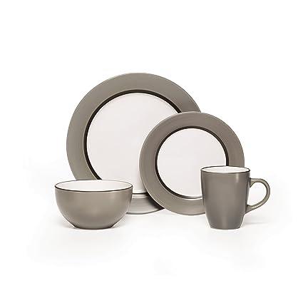 Amazon.com | Pfaltzgraff Grayson 16-Piece Stoneware Dinnerware Set ...