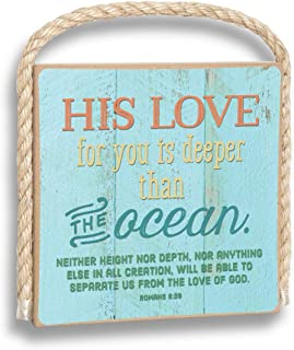 product image for Imagine Design His Love for You is Deeper Than The Ocean Gone Coastal Plaque