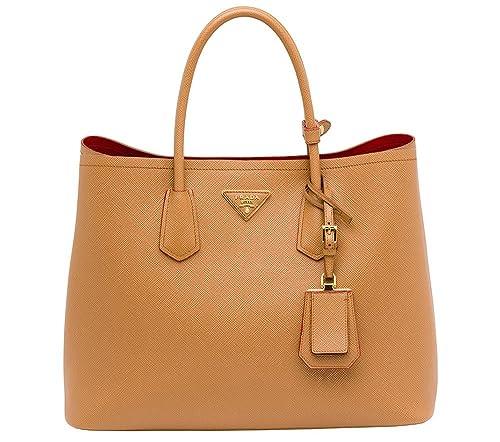 1e0b0026ab24 prada bown Designer Handbags rplica Women's Leather Handbag(Tan Brown,  HB1391): Amazon.in: Shoes & Handbags