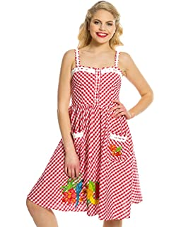 7ab109b7284 Lindy Bop Nadia' Pink Flamingo Stripe Print Cotton Swing Dress ...