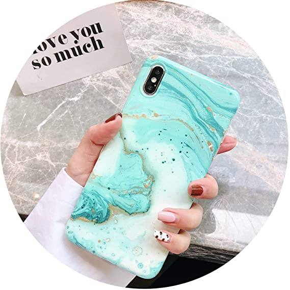 Amazon.com: P20 Luxury Marble Case on for Coque Huawei P20 ...
