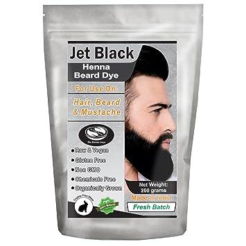 Amazon Com 1 Pack Of Jet Black Henna Beard Dye For Men 100
