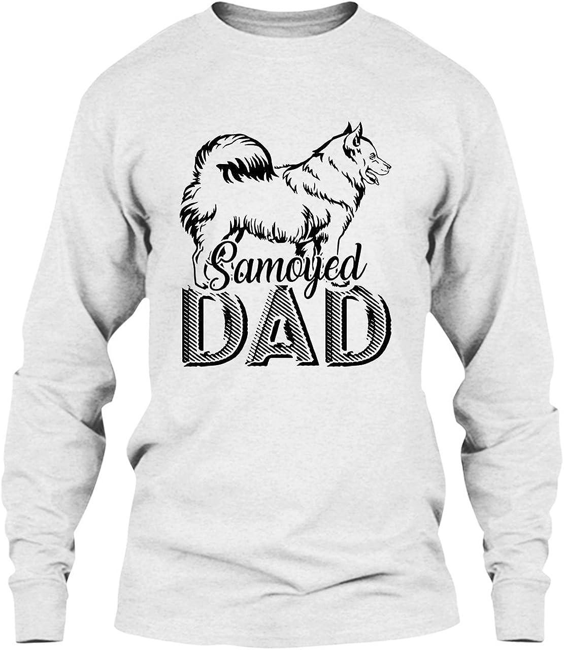 Hooded Sweatshirt Siberian Husky Dad Long Sleeve Hoodie
