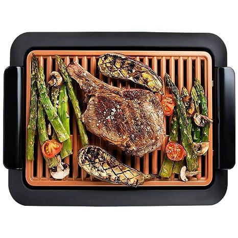 Smokeless Grill - Parrilla sin humos, cocina y asa en el interior de su casa
