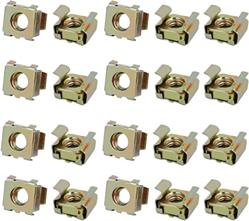 sourcing map 20pcs M8 Cage captif Acier Carbone Plateau Serveur Cabinet