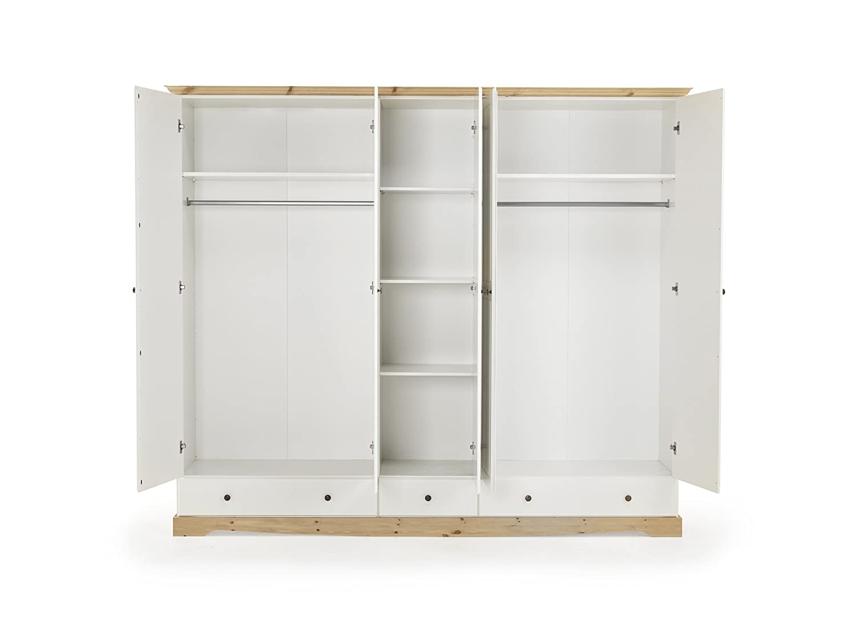 Steens Rouven 5 Tür Kleiderschrank 3 Schubladen Amazonde Küche