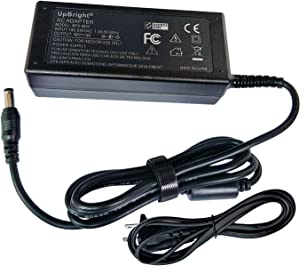 UpBright 19V AC/DC Adapter Compatible with HP Slate 21 25es Value 23vx 25vx N1U84AA M6V68AA 27es T3M86AA 27EA 22vc 23cw 23xw 25xw 25cw 27cw 27xw 22cw 22xw E1L11A IPS FHD HD LED Monitor DC19V Power