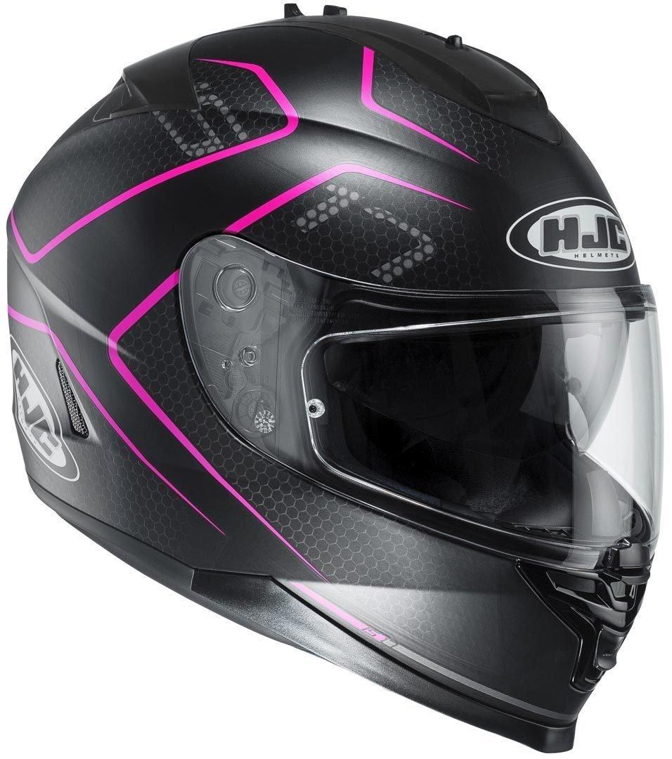 HJC エイチジェイシー IS-17 Lank Helmet 2016モデル ヘルメット ブラック/パープル L(59~60cm) B01FJ3QS12