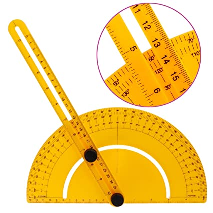 Techinal Template Tool Plastic 0 180 Protractor Angle Finder