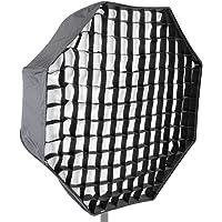 Neewer 120cm Paraguas Softbox Tipo Octagonal de Speedlite Estudio de Foto con Rejilla de Panal y Estuche para Retratos, Fotografía de Iluminación de Estudio y Video de Disparos