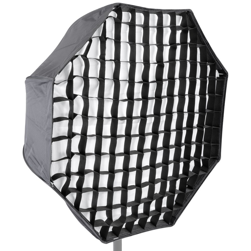 Neewer Photo Studio 47 inches/120 centimeters Octagonal Umbrella Type Speedlite Softbox with Honeycomb Grid and Carrying Case for Portrait, Lighting Studio Product Photography and Video Shooting 10089100