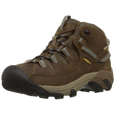 KEEN Women's Targhee II Mid Waterproof Hiking Boot, Slate Black/Flint Stone, 10 M US | Hiking Boots