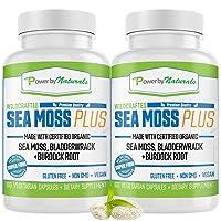 Certified Organic Sea Moss Plus - (2-PK) Wildcrafted Irish Sea Moss and Bladderwrack...