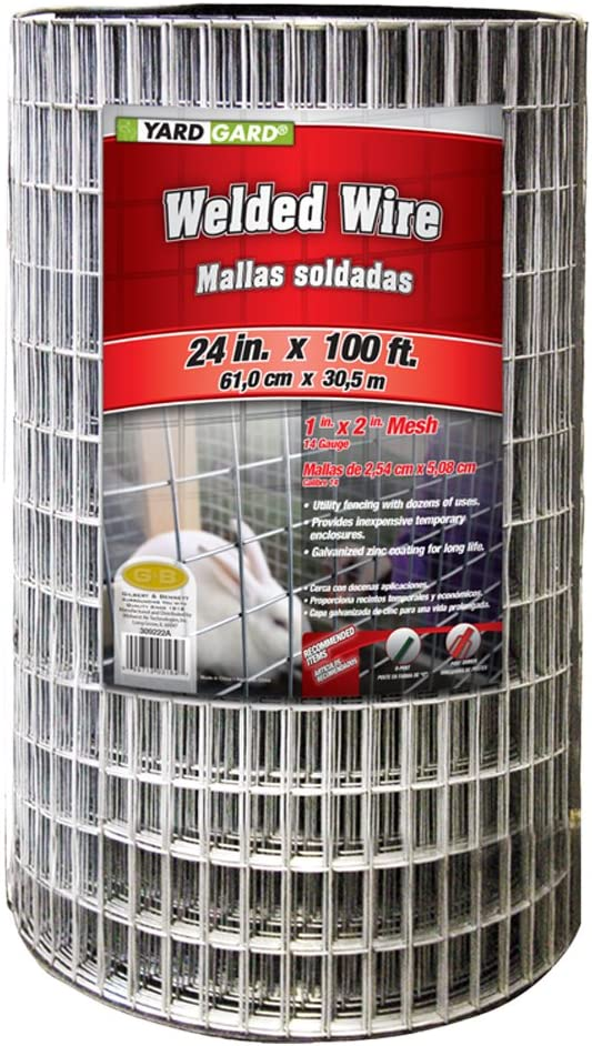 YARDGARD 309222A Fence, Height-24 Inches x Length-100 Ft, Color - Galvanized
