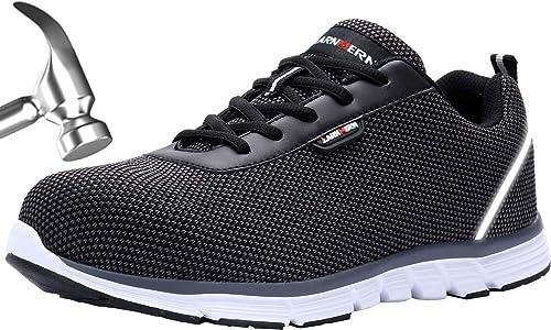 Zapatos de Seguridad Hombres, LM-30 Zapatillas de Trabajo con Punta de Acero