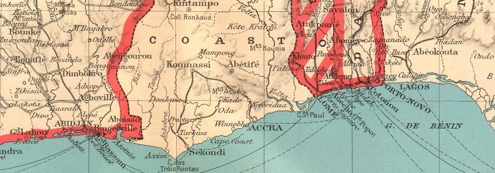 Saint-Louis, Senegal - 1938 Antiguo Antiguo Mapa Vintage - Juego de funda nórdica Mapas de África Occidental Francesa: Amazon.es: Hogar